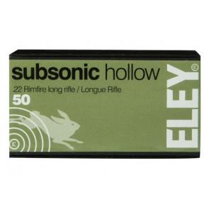 ELEY subsonic hollow Ammunition .22lr