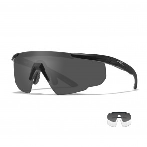 Wiley X - Saber Advanced Clear, Grey Lenses / Matte Black Frame - Protective Eyewear