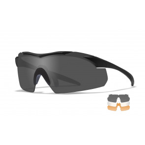 "Wiley X - ""WX VAPOR""  Smoke, Clear, Rust Lens in Matte Black Frame  - Protective Eyewear"