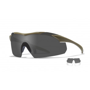 "Wiley X - ""WX VAPOR"" Grey, Clear in Tan Frame - Protective Eyewear"