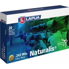 .243 Win. 90gr. (5.8g) Naturalis - Lapua N509 - Box of 20