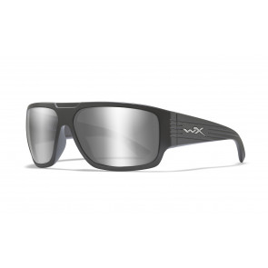 """Wiley X - """"VALLUS"""" Silver Flash Lens in Matte Graphite Frame - Protective Eyewear"""