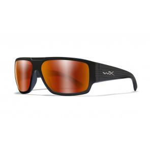 "Wiley X - ""VALLUS"" Polarized Crimson Mirror Lens in Matte Matte Black - Protective Eyewear"