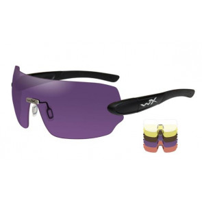 "Wiley X - ""DETECTION"" - 5 Lens Kit in Black Matte Frame - Protective Eyewear"