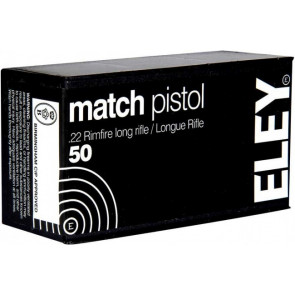 Eley Match Pistol Ammunition .22lr Smallbore