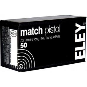 Eley Match Pistol Ammunition .22lr Smallbore