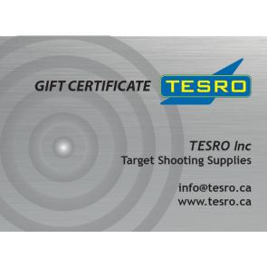 TESRO Inc Gift Certificate