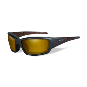"Wiley X - ""TIDE"" Polarized Venice Gold Lens in Hickory Brown Frame - Protective Eyewear"