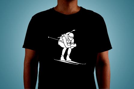 T-Shirt with biathlete print