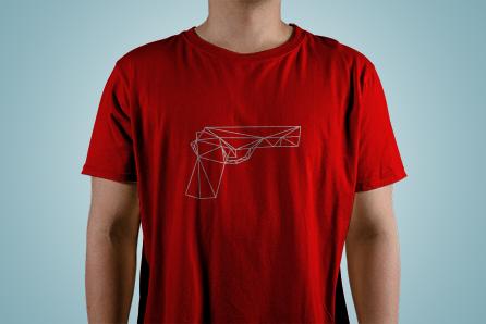 T-Shirt with pistol print