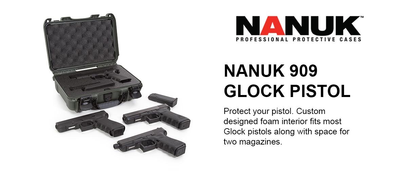NANUK 909 Glock Pistol Case